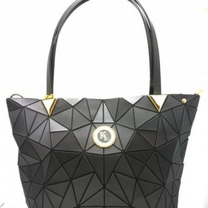 FASHION BIG TOTE BAG 001 - BLACK / GOLD