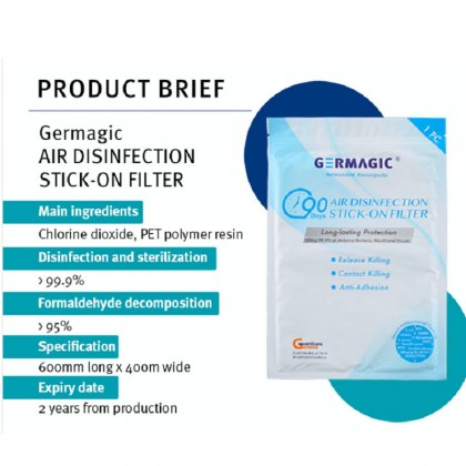 GERMAGIC Air Disinfection Stick-on Filter 90 Days Protection